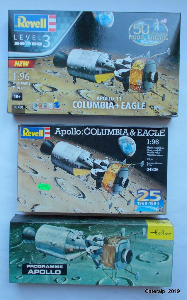 [REVELL] APOLLO 11 COLOMBIA + EAGLE 50ème anniversaire 1/96ème Réf 03700 Fuszoe69