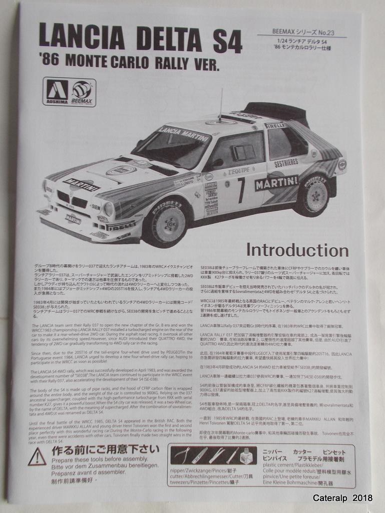 [Aoshima Beemax ] 1/24 Lancia Delta S4 Rallye de Monte Carlo 1986 Lancia77