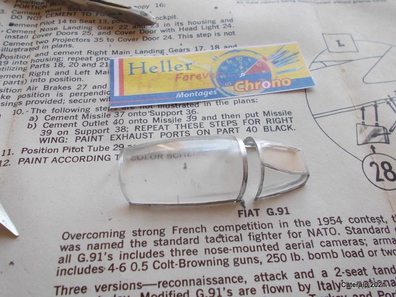 Montage chrono [HELLER BUZC0] FIAT G91 1/50ème Réf 304.250 Montag53