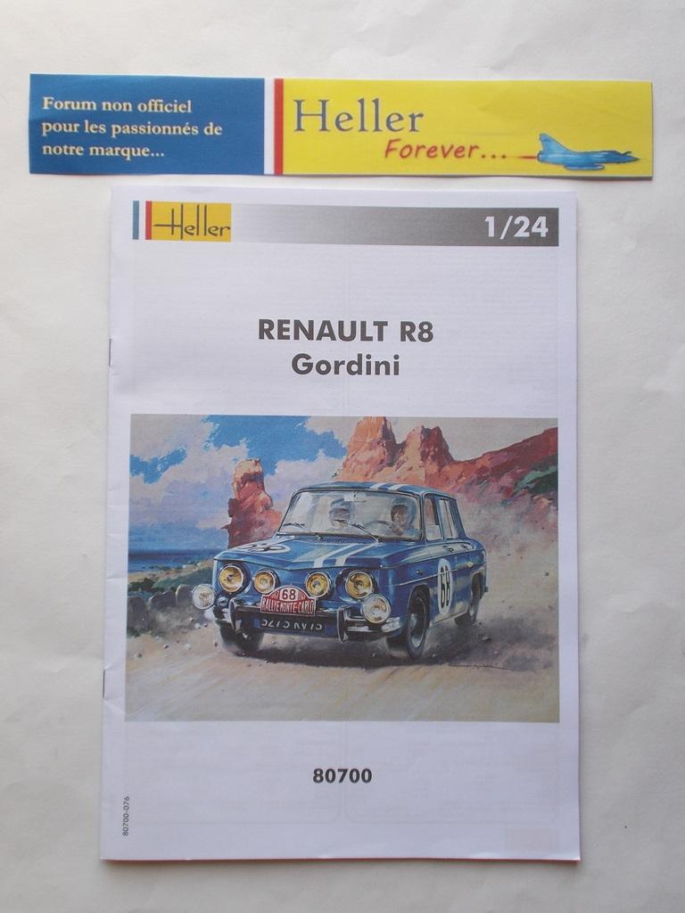 RENAULT R8 GORDINI 1/24ème Réf 80700  Przose58