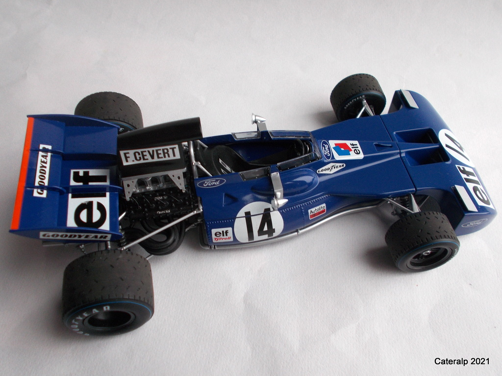 Tyrrell 002 et 003 GP saison 1971 échelle 1/20 EBBRO Tyrrel67