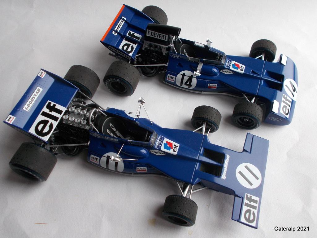 Tyrrell 002 et 003 GP saison 1971 échelle 1/20 EBBRO Tyrrel73
