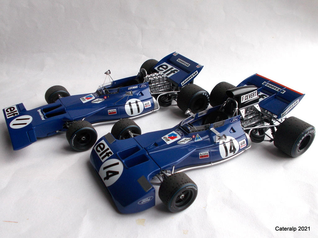 Tyrrell 002 et 003 GP saison 1971 échelle 1/20 EBBRO Tyrrel74