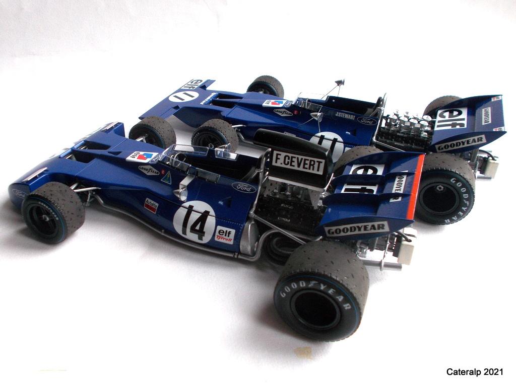 Tyrrell 002 et 003 GP saison 1971 échelle 1/20 EBBRO Tyrrel77
