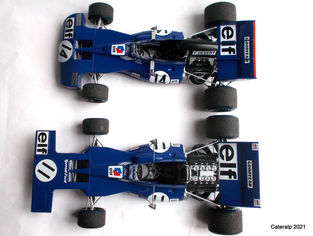 Tyrrell 002 et 003 GP saison 1971 échelle 1/20 EBBRO Tyrrel78