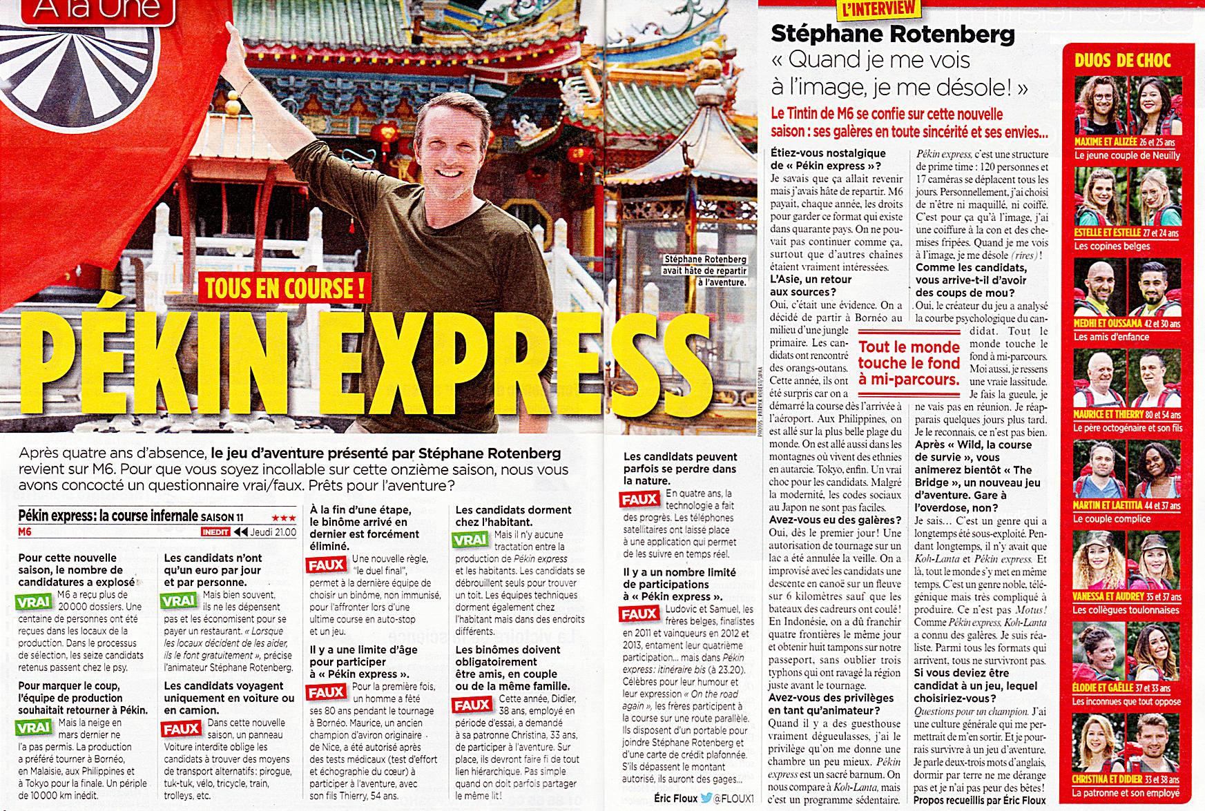 Pékin Express : La Course infernale - M6 - Dès le 12 juillet 2018 Scan_p10