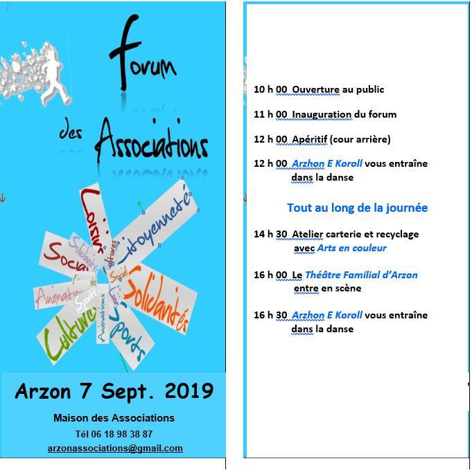 Forum des associations du samedi 7 septembre 2019, Arzon, Maison des Associations Forum_10