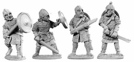 Tenues et campements saxons/normands du haut moyen- Age au XIIIème siècle Saxon110
