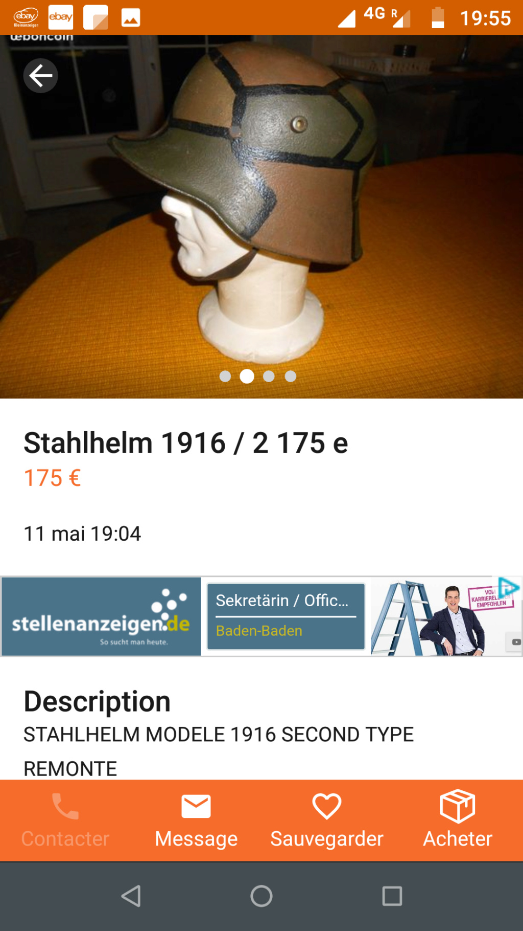 Un stahlhelm Modele 1918....pas cher! Screen89