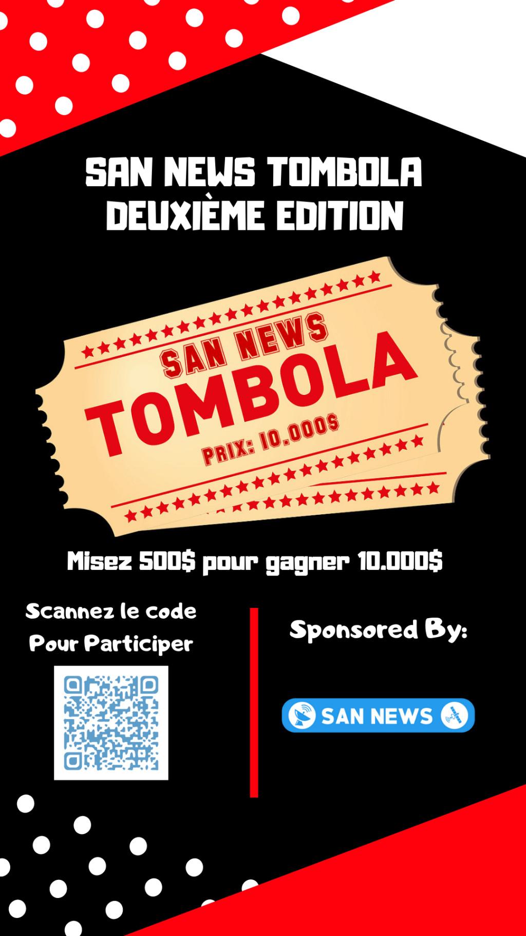 (FLYER) SAN NEWS TOMBOLA - Deuxième Edition 210