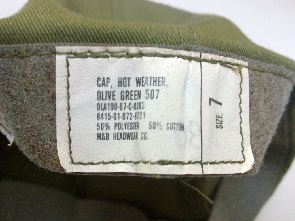1987 dated US Army cap, hot weather, OG 507 Us_arm16