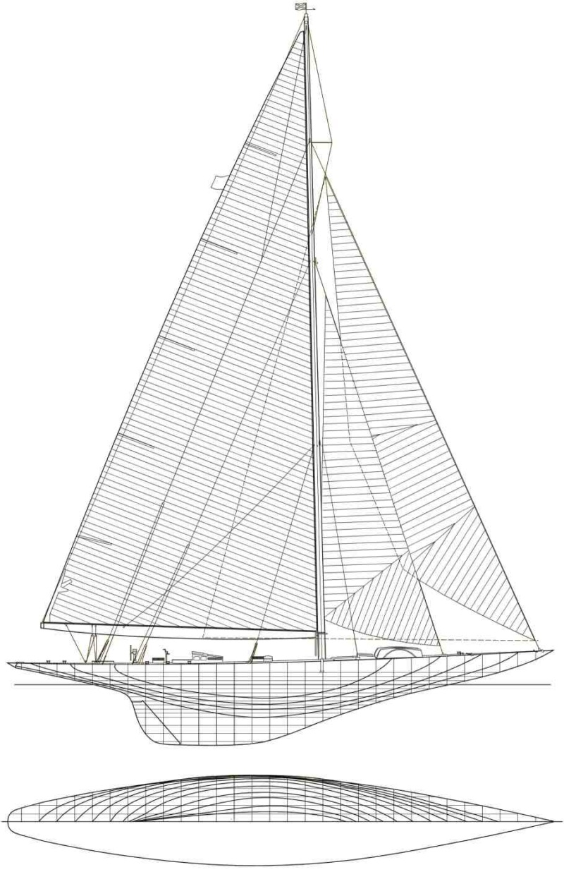 Endeavour 1934 - yacht J-class - 1:80 Amati 0294610