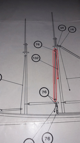 couture, collage ou anneaux pour voile sur mâture déjà en place 11110