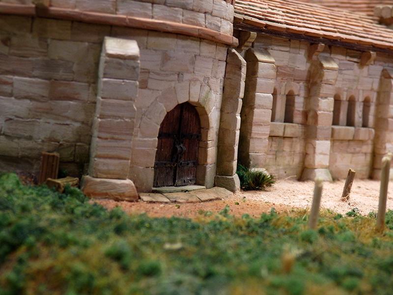 Village médiéval fortifié 14è- bastide - éch1:87 P1160028