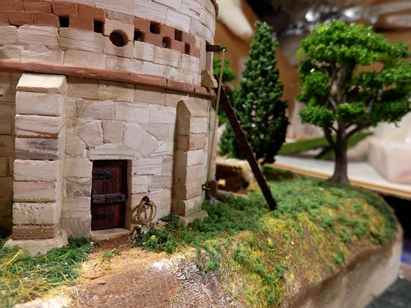 Village médiéval fortifié 14è- bastide - éch1:87 P1170018
