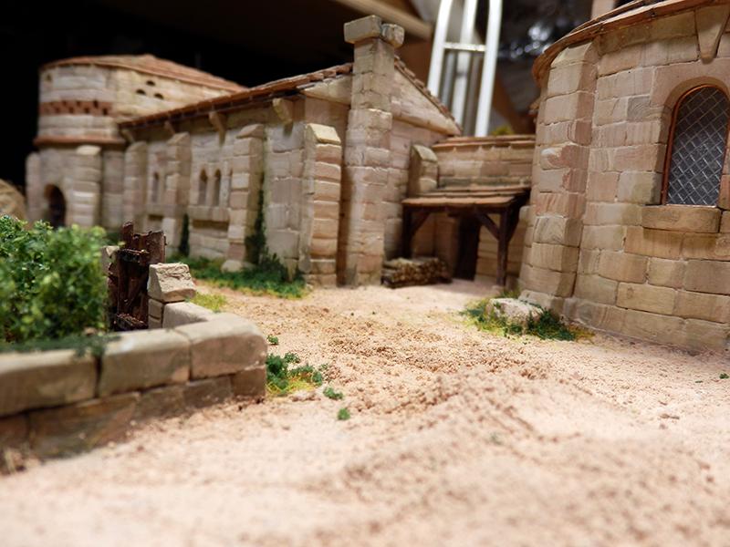Village médiéval fortifié 14è- bastide - éch1:87 P1170020