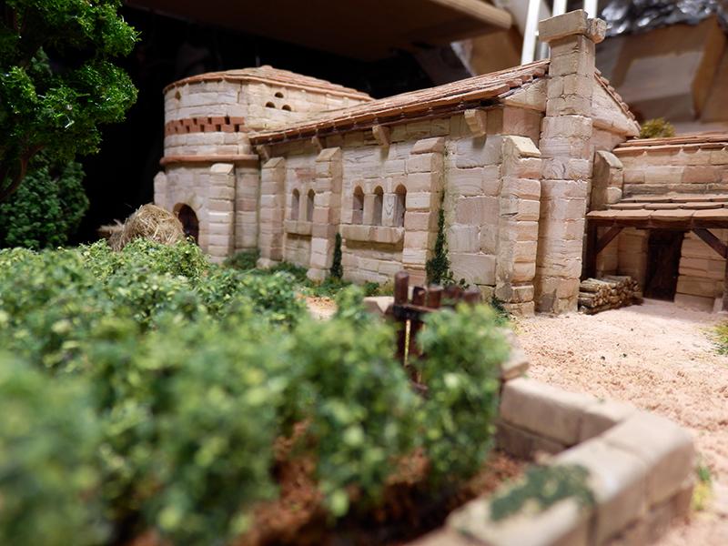 Village médiéval fortifié 14è- bastide - éch1:87 P1170021