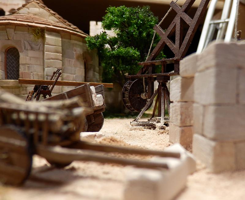 Village médiéval fortifié 14è- bastide - éch1:87 P1190038