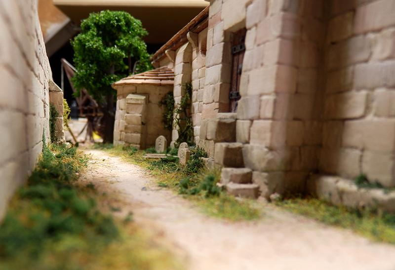 Village médiéval fortifié 14è- bastide - éch1:87 P1190039