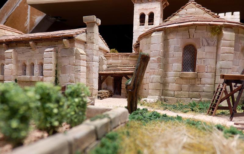 Village médiéval fortifié 14è- bastide - éch1:87 P1190040