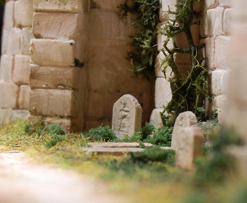Village médiéval fortifié 14è- bastide - éch1:87 P1190042