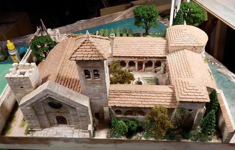 Village médiéval fortifié 14è- bastide - éch1:87 P1190043