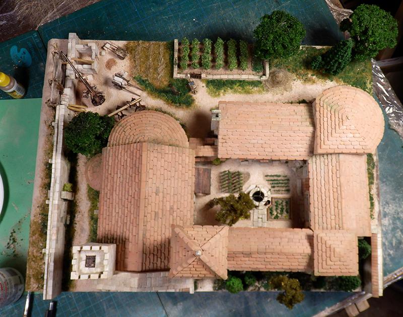 Village médiéval fortifié 14è- bastide - éch1:87 P1190045