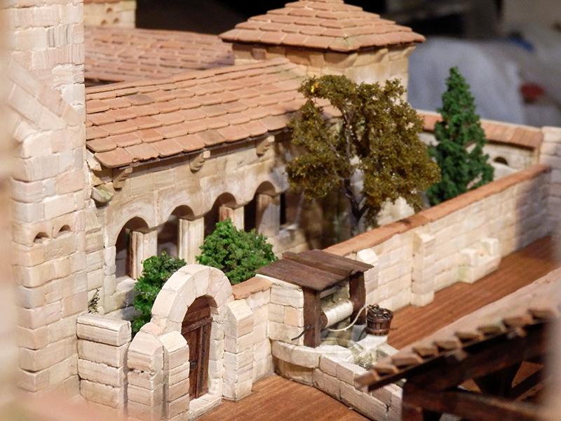 Village médiéval fortifié 14è- bastide - éch1:87 P1190046