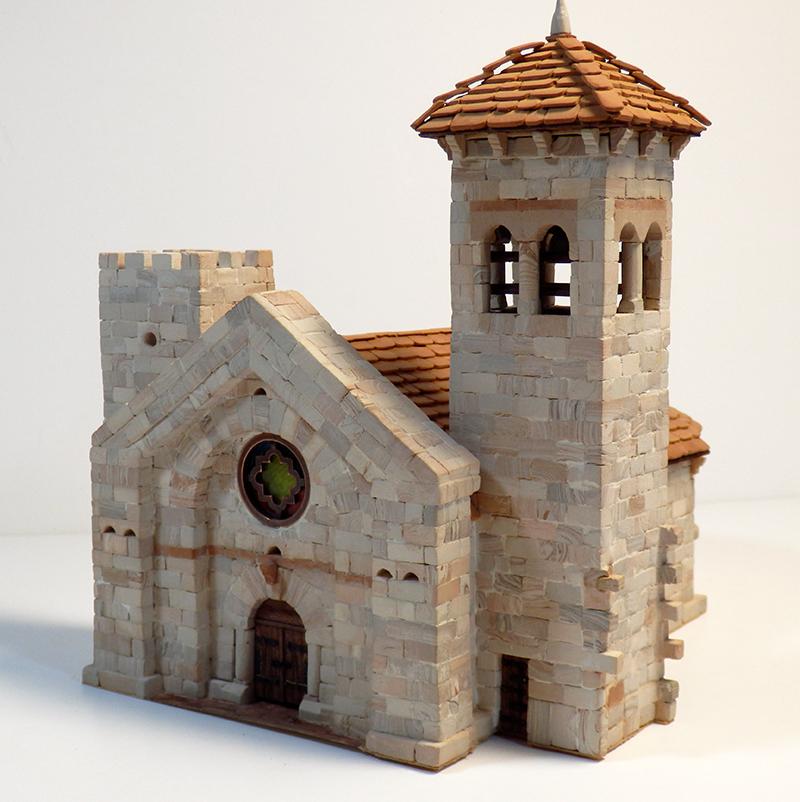 Village médiéval fortifié 14è- bastide - éch1:87 P1200036