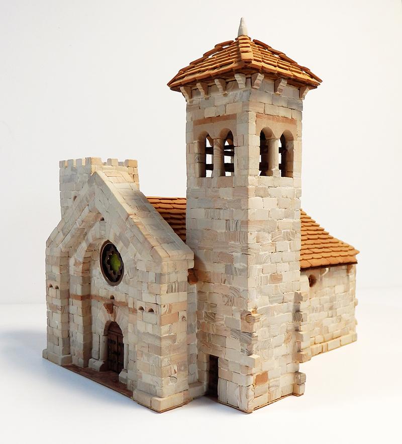 Village médiéval fortifié 14è- bastide - éch1:87 P1200038