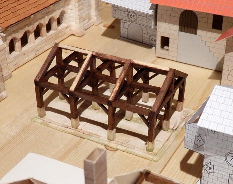Village médiéval fortifié 14è- bastide - éch1:87 P3080024