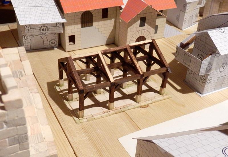 Village médiéval fortifié 14è- bastide - éch1:87 P3080025