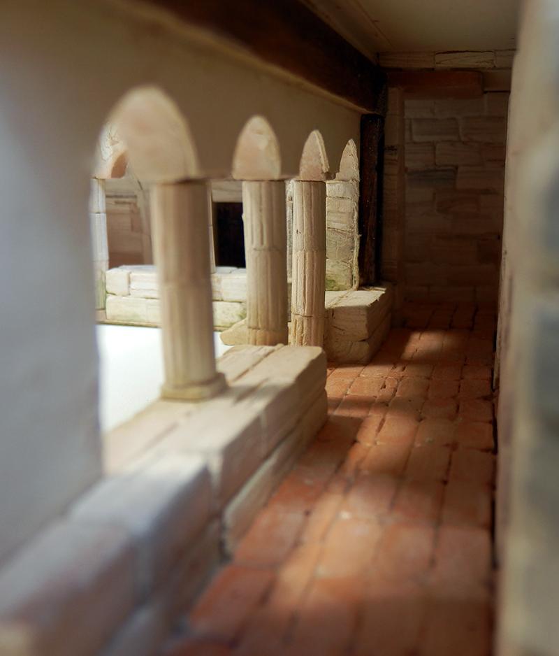 Village médiéval fortifié 14è- bastide - éch1:87 P3120054