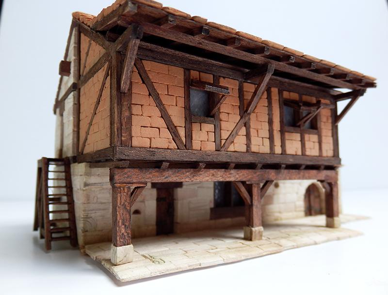 Village médiéval fortifié 14è- bastide - éch1:87 P3290022
