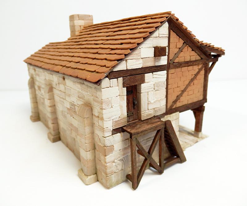 Village médiéval fortifié 14è- bastide - éch1:87 P3290023