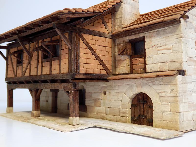 Village médiéval fortifié 14è- bastide - éch1:87 P3290024