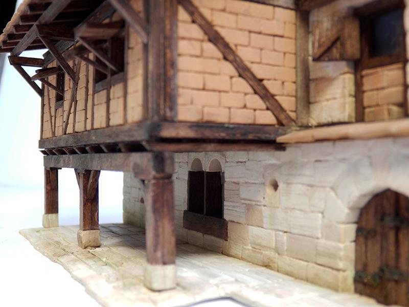 Village médiéval fortifié 14è- bastide - éch1:87 P3290025