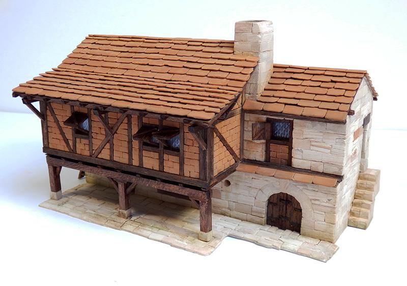 Village médiéval fortifié 14è- bastide - éch1:87 P3290026