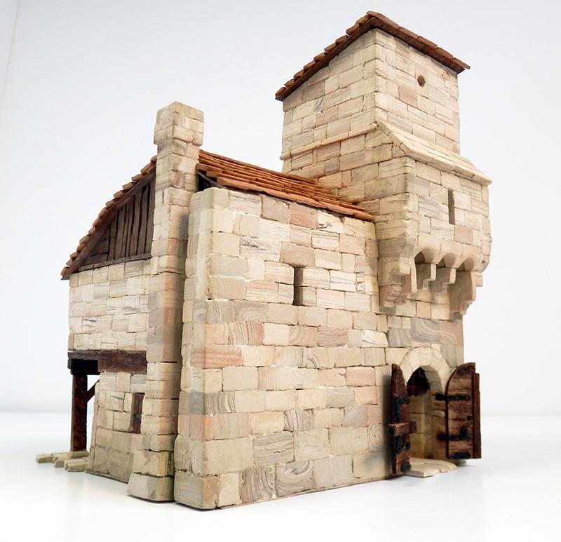 Village médiéval fortifié 14è- bastide - éch1:87 P4120026