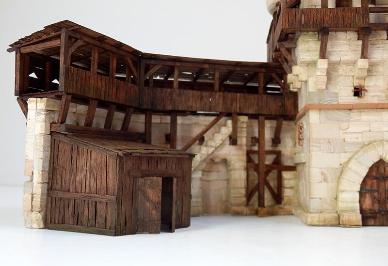 Village médiéval fortifié 14è- bastide - éch1:87 P5150024