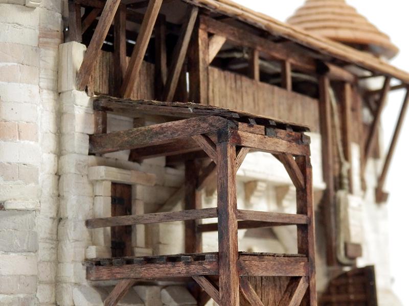 Village médiéval fortifié 14è- bastide - éch1:87 P6140030