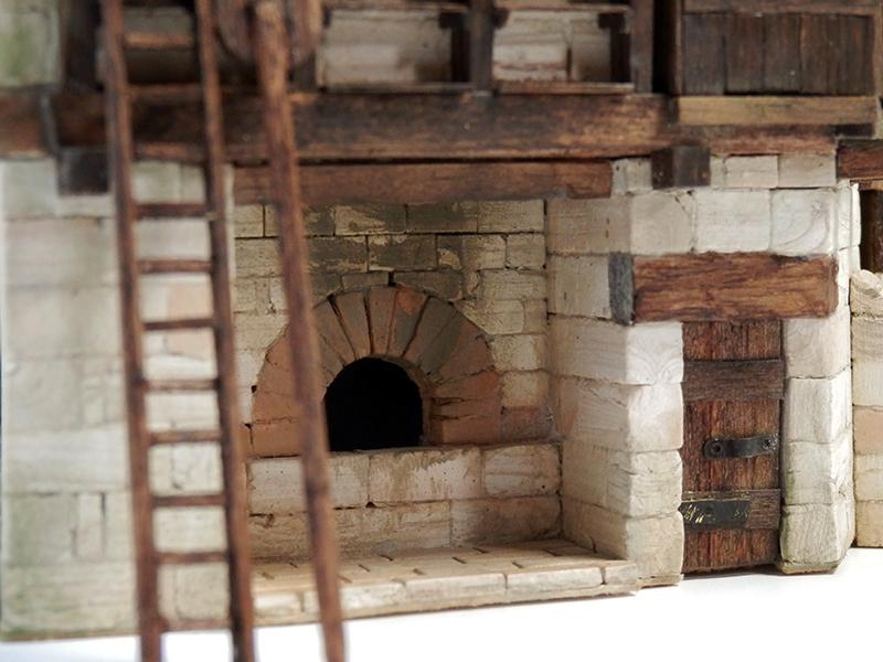 Village médiéval fortifié 14è- bastide - éch1:87 P7090033