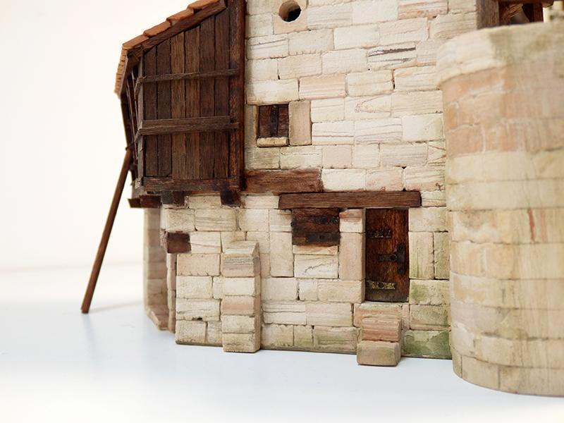 Village médiéval fortifié 14è- bastide - éch1:87 P7090035
