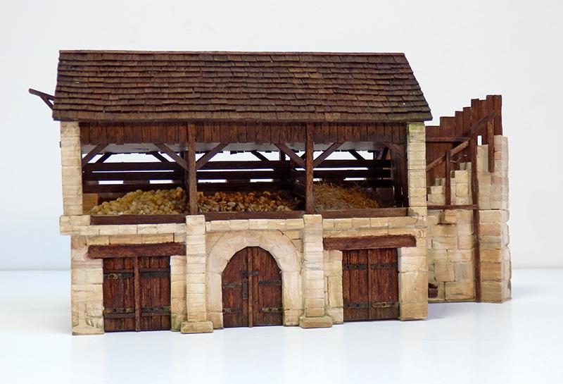 Village médiéval fortifié 14è- bastide - éch1:87 P9090026