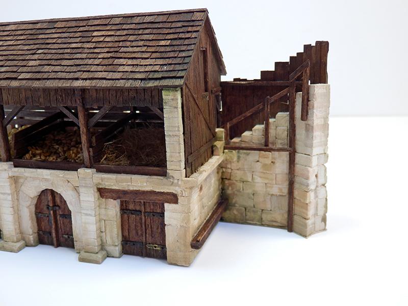 Village médiéval fortifié 14è- bastide - éch1:87 P9090027