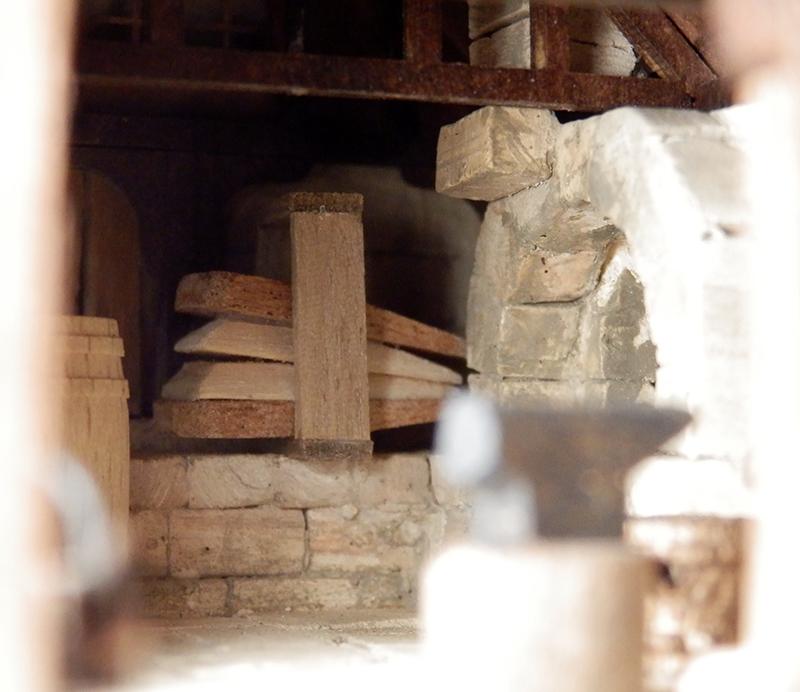 Village médiéval fortifié 14è- bastide - éch1:87 Pa260013