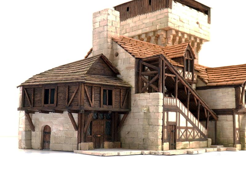 Village médiéval fortifié 14è- bastide - éch1:87 Pb030038