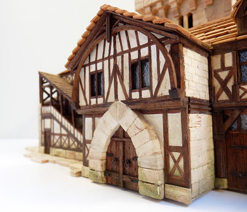 Village médiéval fortifié 14è- bastide - éch1:87 Pb030043