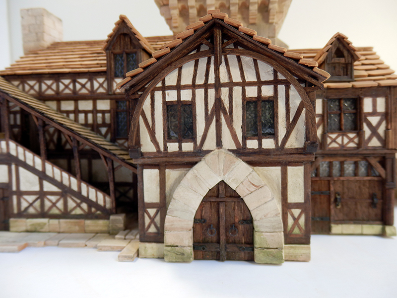 Village médiéval fortifié 14è- bastide - éch1:87 Pb030045