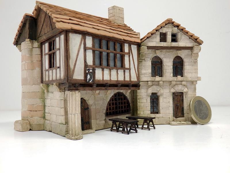 Village médiéval fortifié 14è- bastide - éch1:87 Pb210028